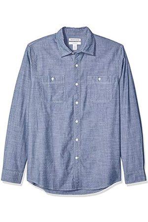 Amazon Herren-Hemd, Chambray-Shirt, Slim Fit, Langarm