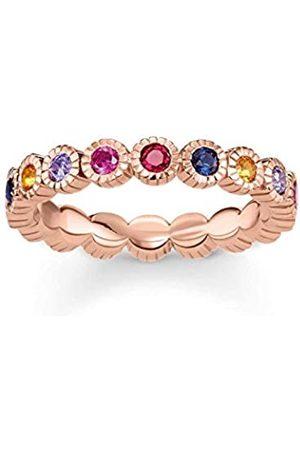 Thomas Sabo Damen-Ringe 925 Sterling Silber Künstliche Perle '- Ringgröße 52 (16.6) TR2148-068-7-52