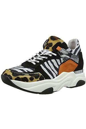 Steve Madden Damen Flexy Sneaker, Mehrfarbig (Animal Multi Ani)