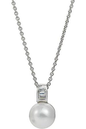 ADRIANA Damen-Kette mit Anhänger Amore 2015 925 Silber rhodiniert Zirkonia Süßwasser-Zuchtperle 45 cm - A59