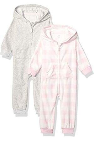 Amazon 2-Pack Microfleece Hooded Coverall fashion-hoodies, Pink Buffalo Check