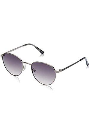 GANT Unisex-Erwachsene GA7109 Sonnenbrille, (Shiny Light Nickeltin/Gradient Smoke)