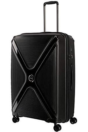 Titan Gepäck Serie PARADOXX: Hartschalen Trolleys mit Akzenten in Leder Optik, Koffer 4-Rad groß mit TSA Schloss, 833404-02, 76 cm