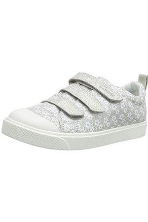 Clarks Mädchen City Vibe K Sneaker, (Silver Silver)