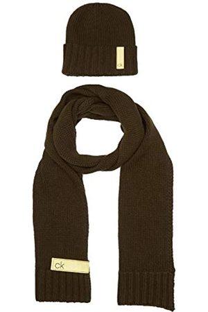 Calvin Klein Herren K50k505185 Mütze, Schal & Handschuh-Set