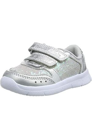Clarks Mädchen Ath Sonar T Sneaker, (Silver Leather Silver Leather)