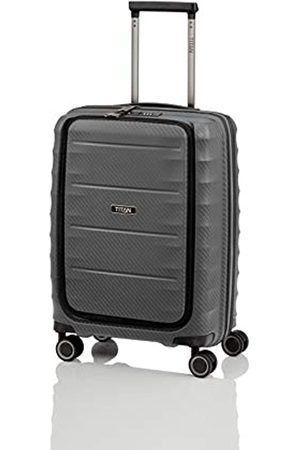 """Titan Super leichter Hartschalenkoffer """"Highlight"""" in 4 Größen im Carbon Look, Handgepäck mit Vortasche Koffer, 55 cm"""