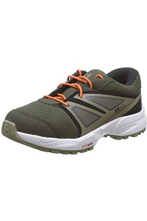 Salomon Kinder SENSE CSWP K Trail Running Schuhe, Farbe: (Forest Night/Black/Mermaid)