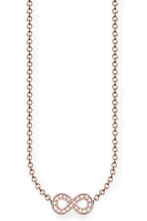 Thomas Sabo Damen-Kette mit Anhänger Glam & Soul 925 Silber Diamant (0.05 ct) weiß 45 cm - D_KE0001-923-14-L45v
