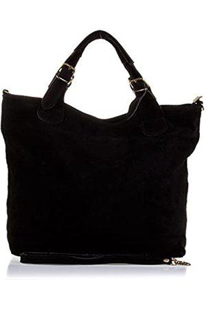 Firenze Artegiani Bolso Shopping Bag De Mujer Piel Auténtica, Acabado Gamuza Umhängetasche