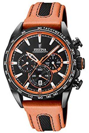 Festina Uhren - Unisex Erwachsene Chronograph Quarz Smart Watch Armbanduhr mit Leder Armband F20351/5