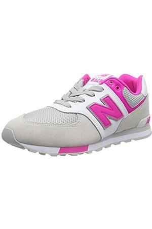 New Balance Mädchen Gc574v1 Sneaker, (White White)