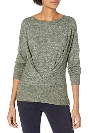 Daily Ritual Cozy Knit Pleat Front Draped Fashion-Sweatshirts