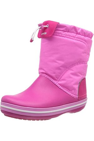 Crocs Unisex-Kinder Crocband LodgePoint Boot Schneestiefel, Pink (Candy/Party Pink)
