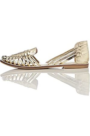 FIND Leather Hurrache Geschlossene Sandalen, (Metalic)