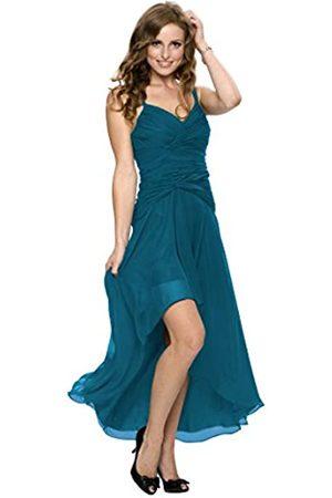 Astrapahl Damen Cocktail Kleid mit schönen Raffungen, Knielang, Einfarbig, Gr. 32
