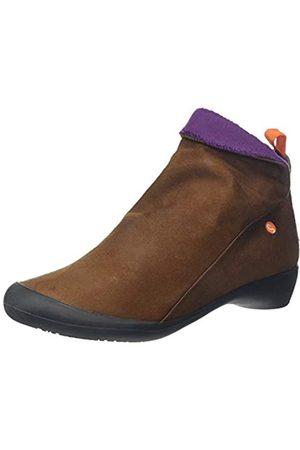 softinos Damen Farah Stiefeletten, (Cognac/Purple Mohair 590)