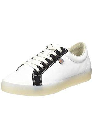 softinos Damen SURY585SOF Sneaker, Mehrfarbig (White/Black 007)