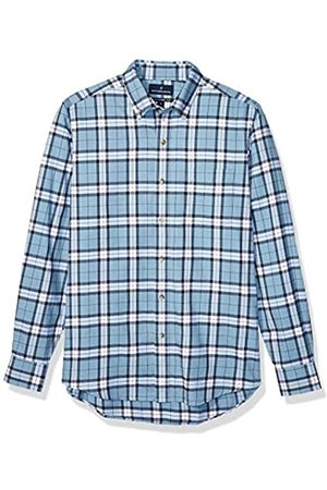 Buttoned Down Tailored Fit Supima Cotton Brushed Twill Plaid Sport button-down-shirts, Heather Blue