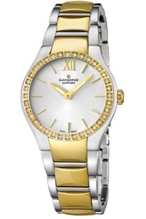 Candino Damen Uhren - C4538/1-Damen-Armbanduhr Alyce Quarz analog Armband Edelstahl vergoldet