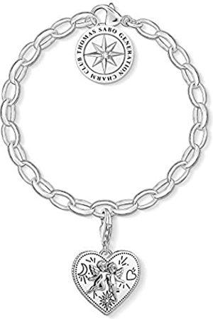 Thomas Sabo Damen-Charm-Armband Herz Charm Club 925 Sterling SET0554-643-14-L19v