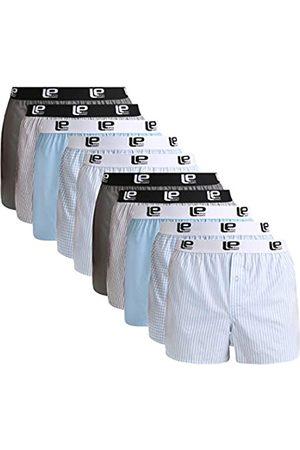 Lower East American Style Boxershorts, Mehrfarbig Hellblau/ ), Medium (Herstellergröße: M)