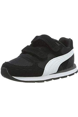Puma Unisex-Kinder Vista V Inf Sneaker, Black White