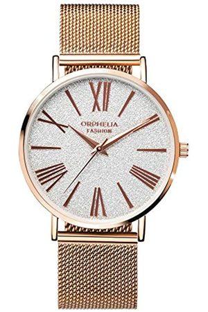 ORPHELIA Damen Uhren - Damen Analog Quarz Uhr mit Edelstahl Armband OF714828