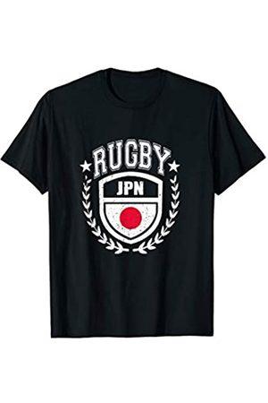 JPN Rugby Spieler Sportbekleidung Japan Rugby Ausrüstung Japanische Flagge Vintage Sport T-Shirt