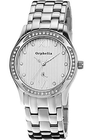 ORPHELIA Damen Uhren - Damen-Armbanduhr A Dream Analog Quarz Edelstahl Zirkonia-Steinen besetztes Gehäuse