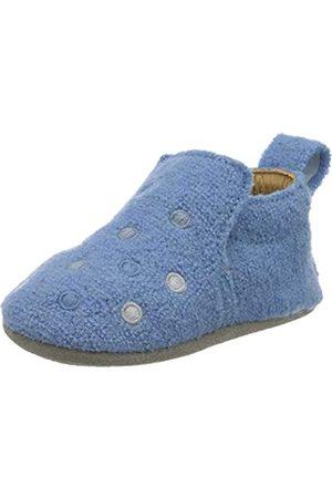 Haflinger Unisex Baby Lauflernschuh Pearl Hausschuhe, Mehrfarbig (Hellblau 56)
