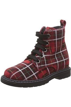 Naturino Unisex-Kinder Barnett Combat Boots, (Rosso Multicolor 1h13)