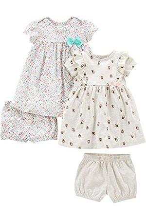 Simple Joys by Carter's Baby & Kleinkind Mädchen 2er-Pack Kurzarm & Ärmellos Kleid Sets