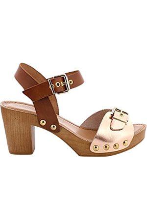 Maria Mare Damen 66533 Kleid-Schuhe, Laminado ORO /Vaquetilla Cuero