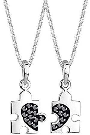Elli Halskette Set Partner Puzzle Swarovski® Kristalle 925 Silber