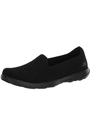 Skechers Damen GO Walk LITE Sneaker, (Black Textile/Trim BBK)