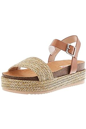 MTNG Collection Damen 58929 Plateausandalen, (Freetime Natural/Thick Vaqueta Cuero C49408)