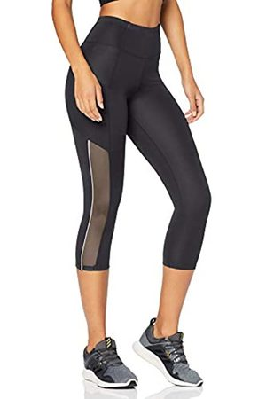 AURIQUE Amazon-Marke: Damen Verkürzte Sportleggings mit Seitenstreifen, 34