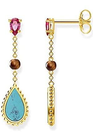 Thomas Sabo Damen-Ohrringe Glam & Soul Riviera Colours 925 Sterling Silber gelbgold vergoldet H2008-492-7