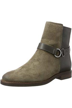 Marc O' Polo Damen Flat Heel Bootie 70814226001311 Schlupfstiefel, (Taupe)