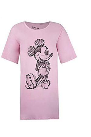 Disney Damen Mickey Sketch Sleep T-Shirt Nachthemd