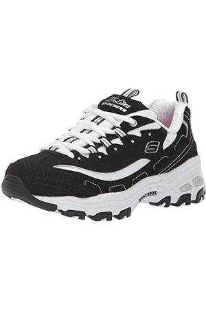 Skechers Girl's D'lites- Biggest Fan Trainers, Black (Black Trubuck/White Mesh Bkw)