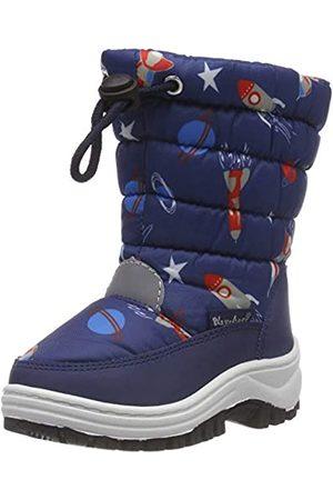 Playshoes Boys Snow Boots Space Unisex-Kinder Schneestiefel, (marine 11)