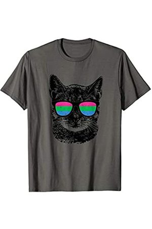 Polysexual Equal Rights Gay Tshirt Designs Polysexuell Katze Pride LGBT Sonnenbrillen T-Shirt