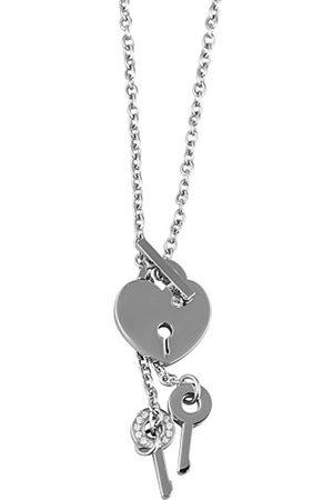 Akzent Damen-Halskette mit Anhänger Edelstahl 002125000046