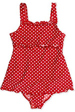Playshoes Mädchen Badeanzug , gepunktet UV-Schutz nach Standard 801 und Oeko-Tex Standard 100 Badeanzug mit Rock in mit weißen Punkten 461035, Gr. 104