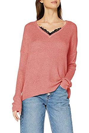 Vero Moda Damen VMNORA LS V-Neck LACE Blouse Langarmshirt