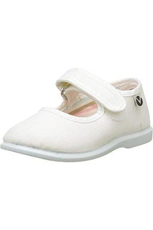 victoria Unisex-Kinder Mercedes Velcro Lona Sneaker, (Blanco)
