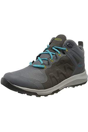 Keen Damen Explore Mid, Imperméable Trekking- & Wanderschuhe, (Steel Grey/Bright Turquoise 003)