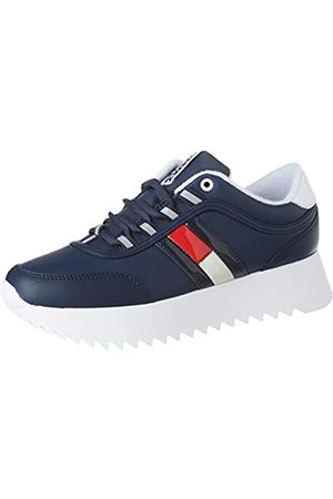 Tommy Hilfiger Damen HIGH Cleated Flag Sneaker, (Twilight Navy C87)